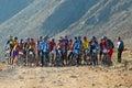 Bike race start Royalty Free Stock Photo