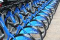 Bike rental in new york july citibike bicycle sharing station on july with stations and bicycles it is one of top sharing Stock Photo