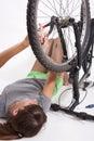 Bike repair Royalty Free Stock Photo