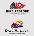Bike Repair Logos Royalty Free Stock Photo