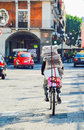 Bike ride, Puebla City, Mexico. 17th May Royalty Free Stock Photo