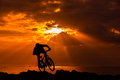 Bike rider mount in brittany Royalty Free Stock Photos