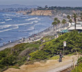 Bike Riding, Pacific Ocean California Stock Images