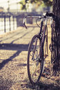 Bike road fixed gear bicycle Royalty Free Stock Photo