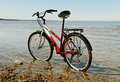 Bike at the sea. Royalty Free Stock Photography