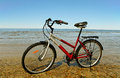 Bike at the sea. Royalty Free Stock Image