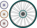 Bike  set  wheel isolated on white background Stock Photography