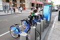 Bike share nyc citi in manhattan Royalty Free Stock Images