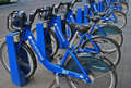 Bike share station is located at Flinders Street opposite Federation Square Royalty Free Stock Photo