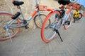 Bike sharing in china Royalty Free Stock Photo