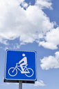 Bike Signal for the sky Stock Images