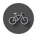 Bike silhouette icon.