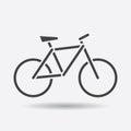 Bike silhouette icon on white background. Bicycle vector illustr Royalty Free Stock Photo