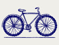 Bike sketch Royalty Free Stock Photography