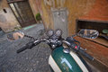 Bike on the street at one of narrow streets of ancient rome Royalty Free Stock Photography