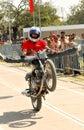 Bike stunt Royalty Free Stock Photos