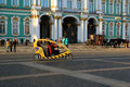 Bike taxi on Palace Square. St. Petersburg, Russia Royalty Free Stock Photo