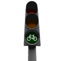 Bike traffic light and a sign Royalty Free Stock Image