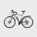 Bike a transparent background. Bicycle silhouette illustration vector art. Royalty Free Stock Photo