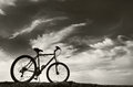 Bike under sky Royalty Free Stock Images