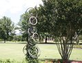Bike Wheel Art Display at the West Tennessee Agricultural Research Center Royalty Free Stock Photo