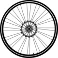 Bike wheel isolated on white Royalty Free Stock Image