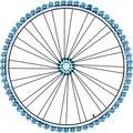 Bike wheel isolated on white background. vector Royalty Free Stock Image