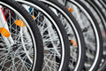 Bike wheels Royalty Free Stock Images