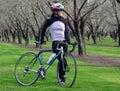 Bike woman 库存照片