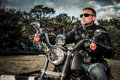 Biker Royalty Free Stock Photos