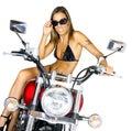 Biker babe Royalty Free Stock Photo