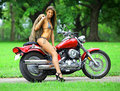 Biker babe Royalty Free Stock Image