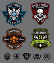 Biker badge logos & elements Royalty Free Stock Photo