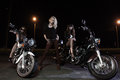 Biker girls Royalty Free Stock Images