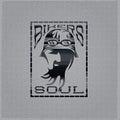 biker man vintage emblem on metal background Royalty Free Stock Photo