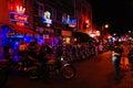 Biker Night Royalty Free Stock Photo