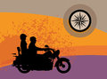 Bikers abstract background Royalty Free Stock Photo