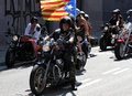 Bikers on barcelona harley days july in spain davidson european bike festival celebrates th anniversary of Stock Image