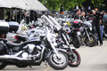 Bikers during Belgrade's Bike Rock Festival Stock Photography