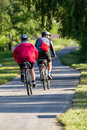 Bikers make a excursion on the bikeroad Stock Photography