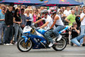 Bikers meeting and show on Kiev City Day Stock Image