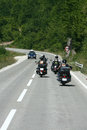 Bikers motorcycles chopper ride to the highway Royalty Free Stock Photography