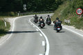 Bikers motorcycles chopper ride to the highway Stock Photo