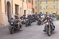 Bikers riding harley davidson a group of american motorbikes at motorcycle rally sangiovese tour by ravenna chapter on september Stock Photo