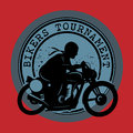 Bikers Tournament label Stock Photos