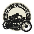 Bikers Tournament label Royalty Free Stock Photos