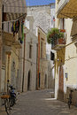 Bikes bari image taken of a traditional alleyway with in puglia italy Stock Image
