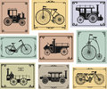 Bikes and cars Royalty Free Stock Image