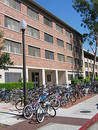 Bikes at a college Stock Image