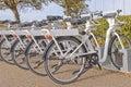 Bikes image taken of for hire in copenhagen denmark Royalty Free Stock Photo